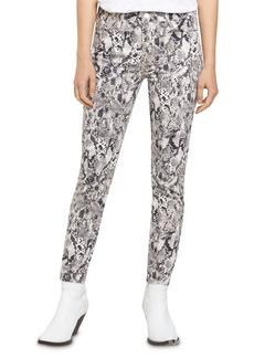 Sanctuary Social Standard Snakeskin-Print Ankle-Length Jeans