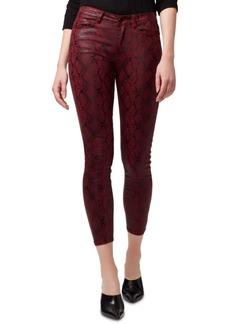 Sanctuary Social Standard Snakeskin-Print Skinny Jeans