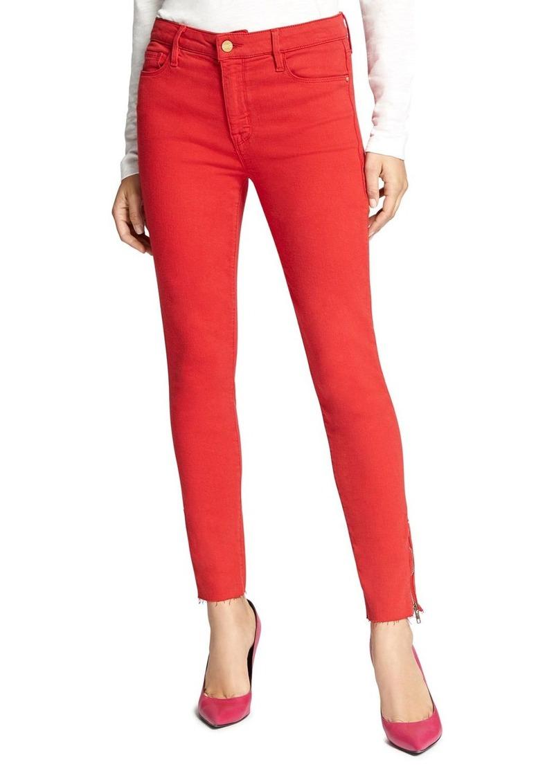 Sanctuary Social Standard Zip Ankle Jeans in Street Red