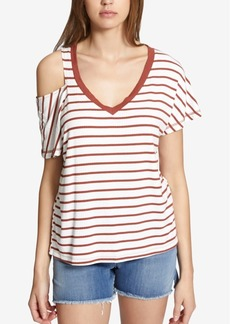 Sanctuary Stateside Striped Cold-Shoulder Top