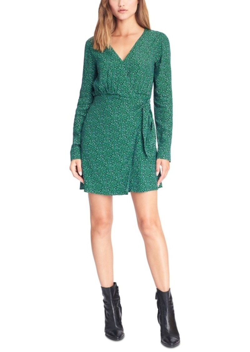 Sanctuary Stay The Night Printed Wrap Dress