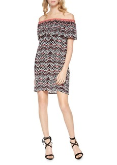 Sanctuary Stella Printed Off-the-Shoulder Dress