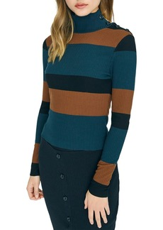 Sanctuary Striped Turtleneck Sweater