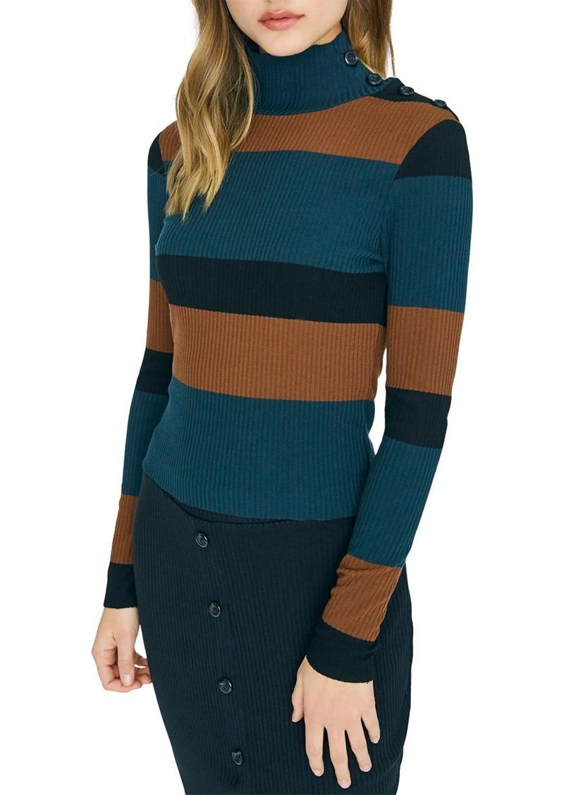 Sanctuary Striped Turtleneck Sweater