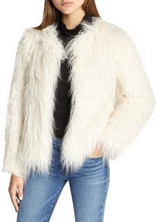 Sanctuary Studio Fifty Faux Fur Cropped Jacket