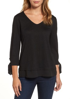 Sanctuary Sylvie Tiered Hem Linen Tee (Regular & Petite)