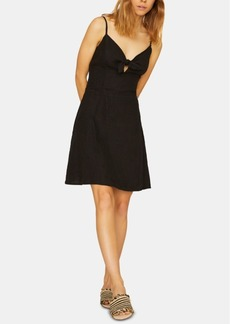 Sanctuary Take Away Linen Sleeveless Tie Dress