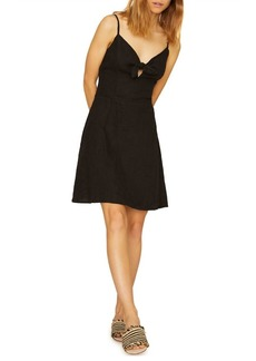 Sanctuary Take Away Linen Tie Dress