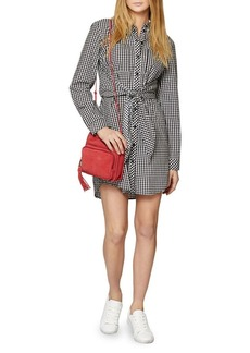 Sanctuary Tali Check Tie-Front Cotton Shirt Dress