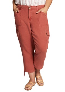 Sanctuary Terrain Crop Linen Cargo Pants (Plus Size)
