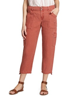 Sanctuary Terrain Linen Crop Cargo Pants (Regular & Petite)