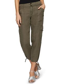 Sanctuary Terrain Linen Crop Cargo Pants (Regular & Petite)
