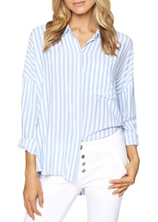 Sanctuary Tie-Back Stripe Boyfriend Shirt