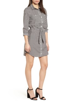 Sanctuary Tie Front Gingham Shirtdress