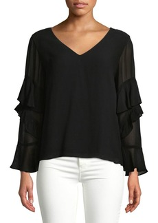 Sanctuary Tiered Ruffle Long-Sleeve Top
