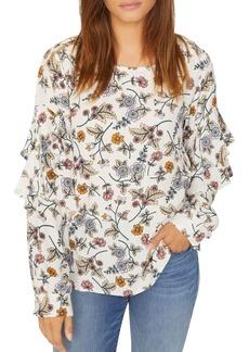 Sanctuary Tilly Floral Flounce-Sleeve Top