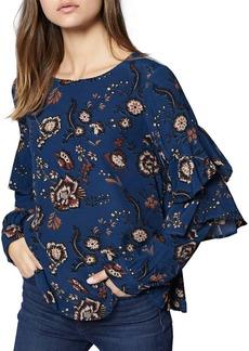 Sanctuary Tilly Flounce-Sleeve Floral Top