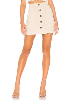 Sanctuary Trail Blazer Button Front Utility Skirt