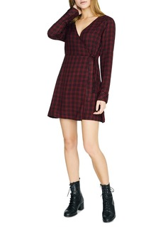 Sanctuary Upbeat Plaid Faux-Wrap Dress