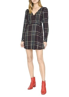 Sanctuary Upbeat Plaid Wrap Dress