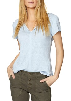 Sanctuary Uptown Tiered Hem Linen Tee (Regular & Petite)