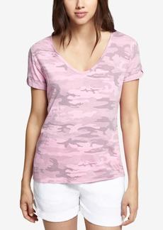 Sanctuary V-Neck Camo-Print T-Shirt
