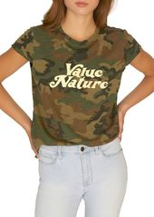 Sanctuary Value Nature Camouflage Cotton Blend Tee