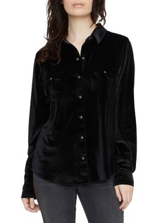 Sanctuary Velvet High-Low Work Shirt