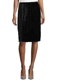 Sanctuary Velvet Pleated Straight Skirt
