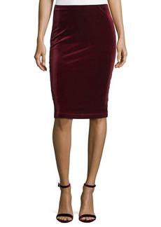 Sanctuary Velvet Pull-On Pencil Skirt