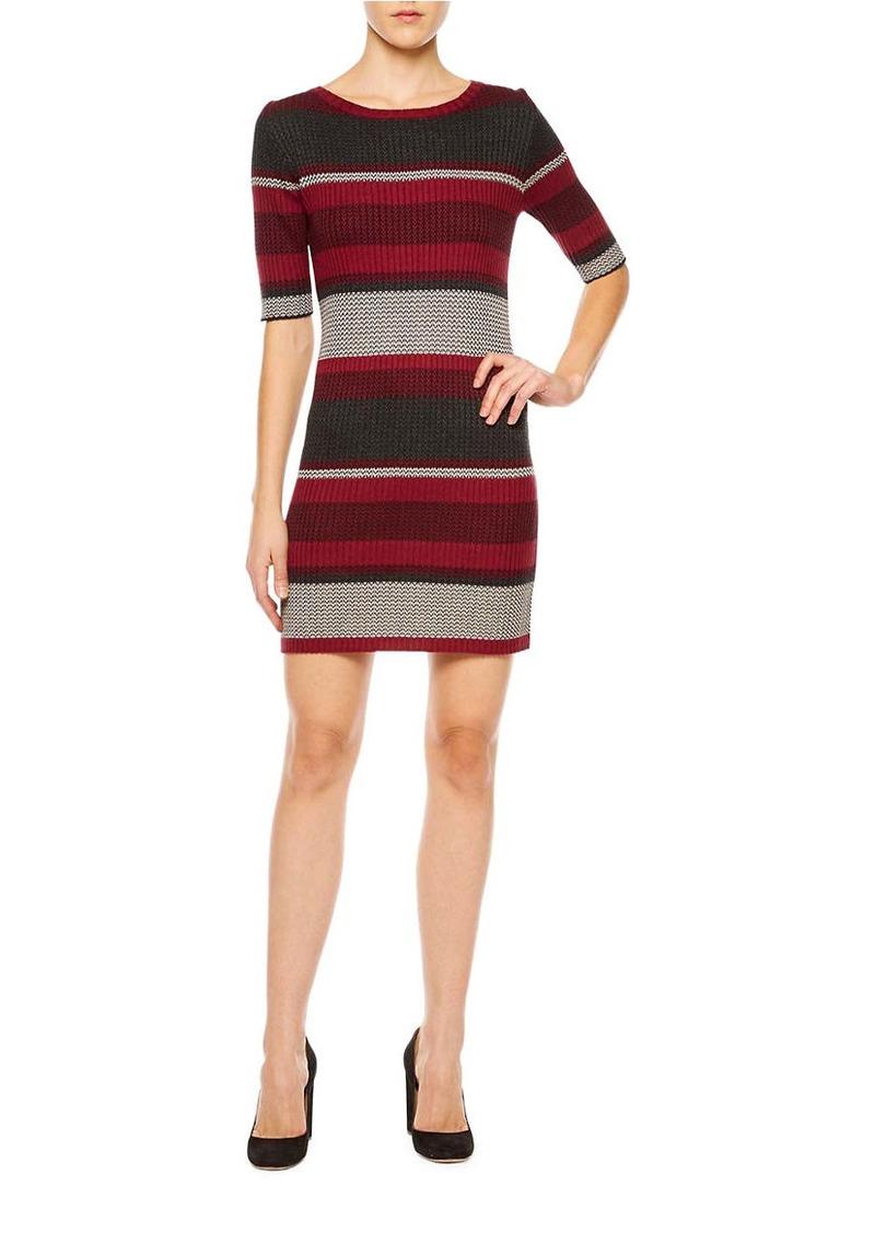 SANCTUARY Veronique Striped Bodycon Sweater Dress