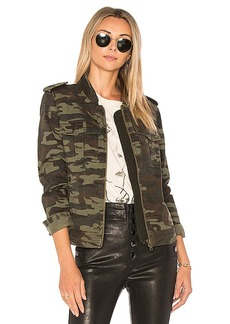 Sanctuary War Is Over Jacket in Army. - size L (also in M,S,XS)