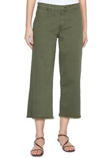 Sanctuary Wide Leg Raw Hem Crop Pants