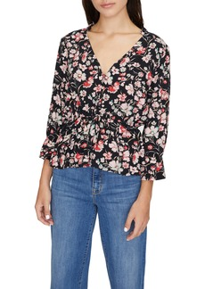 Sanctuary Windswept Peplum Blouse (Regular & Petite)