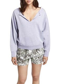 Sanctuary Women's Breslin Split Neck Sweatshirt