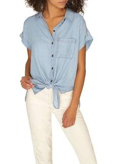 Sanctuary Women's Mod Tie Front Shirt