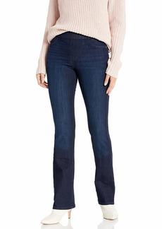 Sanctuary Women's Uplift Pull On Demi Boot Cut Jean with Built in Shaper Tech sea Stone