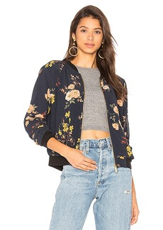 Sanctuary Woodlands Bomber in Navy. - size L (also in S,XS,M)