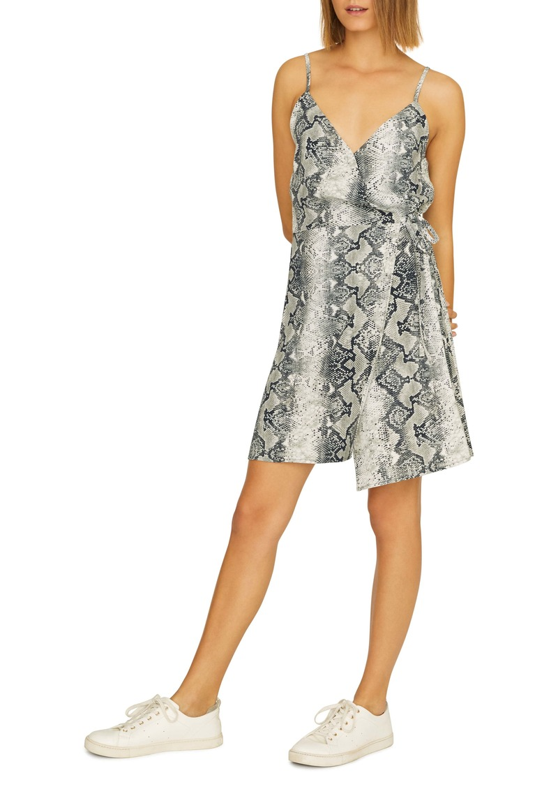 Sanctuary Wrap It Up Python Print Sleeveless Wrap Dress