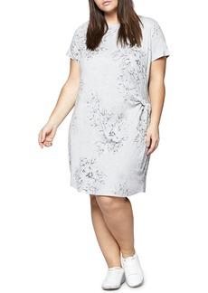 Sanctuary Wrapsody Print T-Shirt Dress (Plus Size)