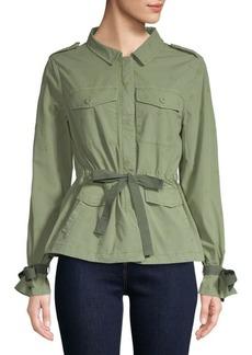 Sanctuary Self-Tie Embroidered Jacket