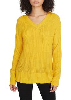 Sanctuary Shaker V-neck Pocket Sweater (Regular & Petite)