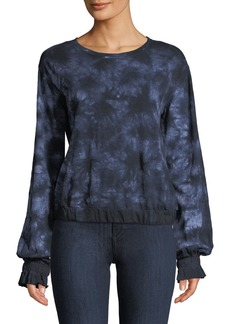 Sanctuary Sia Balloon-Sleeve Tie-Dye Top