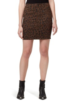 Sanctuary Sia Leopard-Print Five-Pocket Skirt