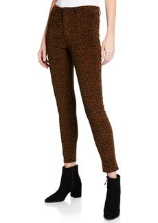 Sanctuary Social Affair Leopard-Print Corduroy Skinny Pants