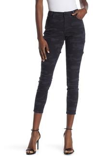 Sanctuary Social Camo Print Standard Rise Skinny Crop Jeans
