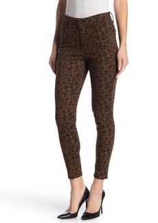 Sanctuary Social Standard Leopard Print High Waist Skinny Jeans