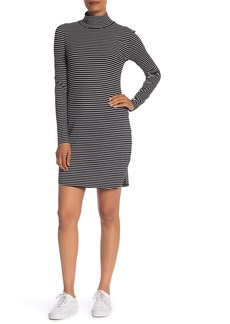 Sanctuary Essentials Stripe Mock Neck Dress (Regular & Petite)