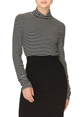 Sanctuary Stripe Mock Neck Top
