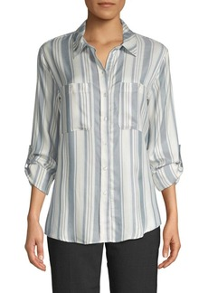 Sanctuary Striped Button-Down Shirt